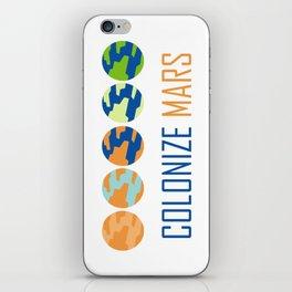 Colonize Mars iPhone Skin