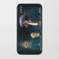 calvin and hobbes iPhone & iPod Cases featuring My Neighbor Hobbes by Josh Mauser