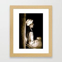 Laughing Egyptian Man Framed Art Print