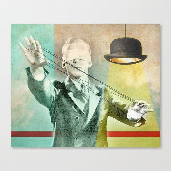 Blindfold bowler Canvas Print