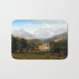 Albert Bierstadt The Rocky Mountains, Lander's Peak Bath Mat