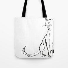 Skinny cat illustration Tote Bag