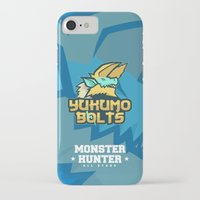 monster hunter iPhone & iPod Cases featuring Monster Hunter All Stars - The Yukumo Bolts by Bleached ink