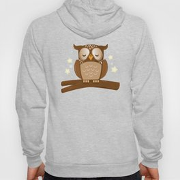 Sleepy brown barn owl Hoody