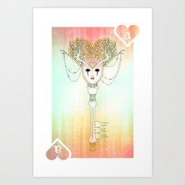 Anthrocemorphia - Ace of Hearts Art Print