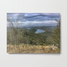Eildon Lake Mountain View Metal Print