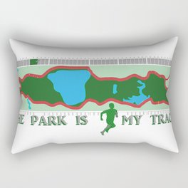 Park is My Track Rectangular Pillow
