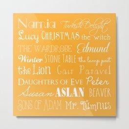 Narnia Celebration - Marigold Metal Print