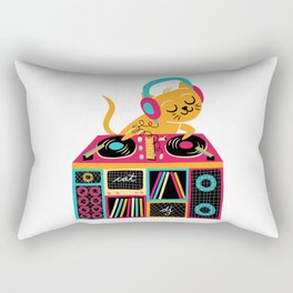 Cat DJ Rectangular Pillow