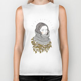 Keep the Cold Out Illustration Biker Tank