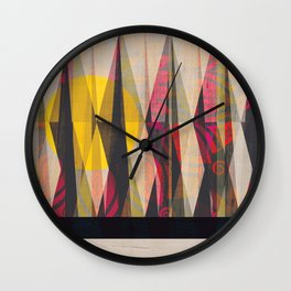 Sun Through the Forest Wall Clock