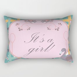 It's a girl Rectangular Pillow