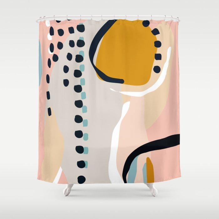 modern abstract Shower Curtain