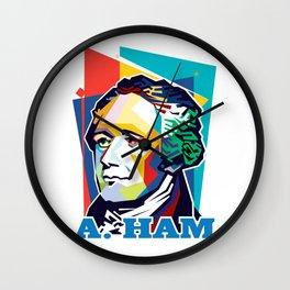 Alexander Hamilton Pop Art Wall Clock