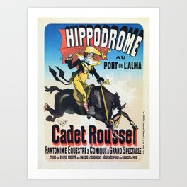 Hippodrome Paris Art Print
