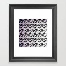 Rows of Flowers, Purple Framed Art Print