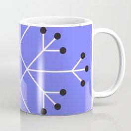 Mod Snowflake Purple Coffee Mug