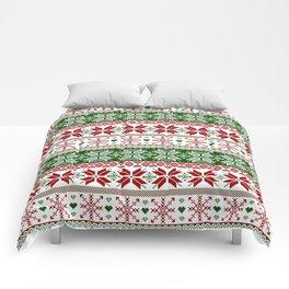 Green & Red Winter Fair Isle Comforters