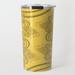 Primrose Yellow Fractal Travel Mug