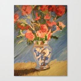 Vase vvith flovvers Canvas Print