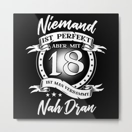 18th Birthday Metal Print