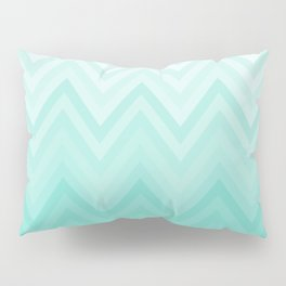 Fading Teal Chevron Pillow Sham