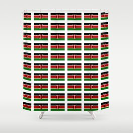 Flag of Kenya -kenyan,kenia,rift valley,serengeti,kilimanjaro,nairobi,mombasa Shower Curtain