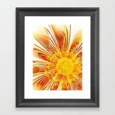 Summer Fractal Flower Framed Art Print