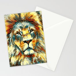 AnimalArt_Lion_20171004_by_JAMColorsSpecial Stationery Cards