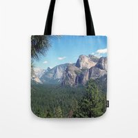 yosemite Tote Bags featuring YOSEMITE  by Melissa Whitman