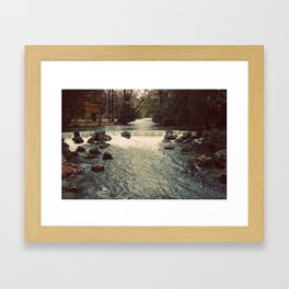 Rocky River Waterfall Englischer Garten Germany Color Photo Isar River Framed Art Print