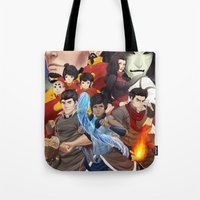 legend of korra Tote Bags featuring Legend of Korra by Meder Taab