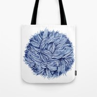 furry Tote Bags featuring furry by grafillu