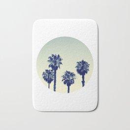 retro palm trees Bath Mat