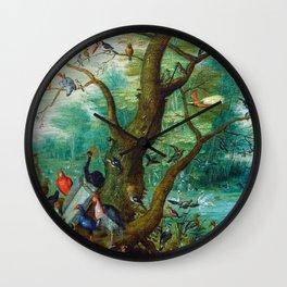 Jan van Kessel - Concert of birds Wall Clock