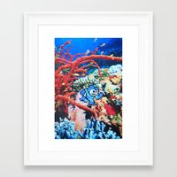 megaman Framed Art Prints featuring Megaman by John Turck