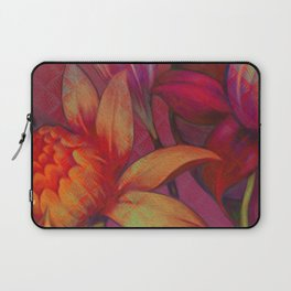 """Retro Giant Floral Pattern"" Laptop Sleeve"