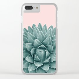 Blush Green Agave Chic #1 #succulent #decor #art #society6 Clear iPhone Case