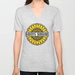 Sunflower Daddys Sunshine Unisex V-Neck