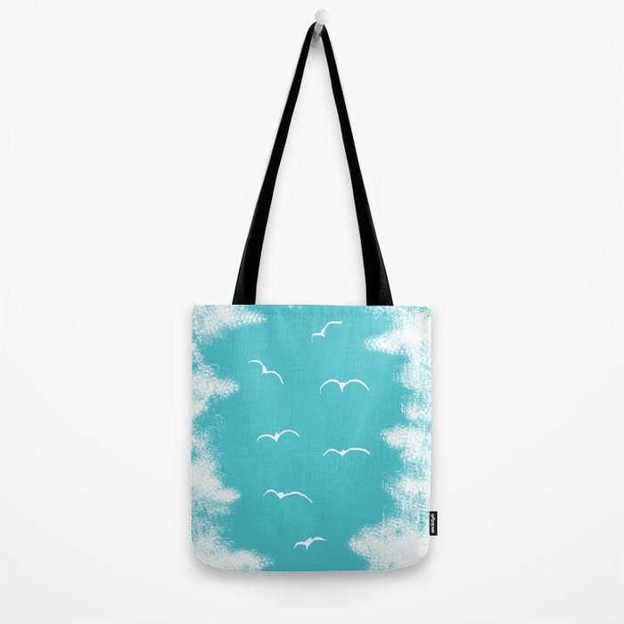 Seabirds and Clouds Tote Bag