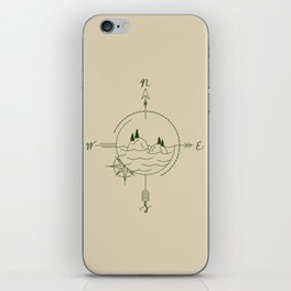 Finding Our Island - Beige iPhone Skin