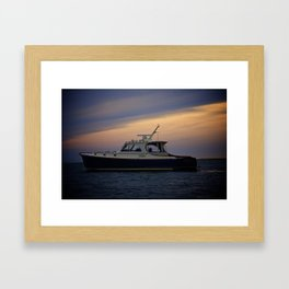 Night on the Water Framed Art Print