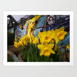 Shoreditch Daffs Art Print