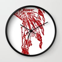 headdress Wall Clocks featuring Headdress by ttrostle