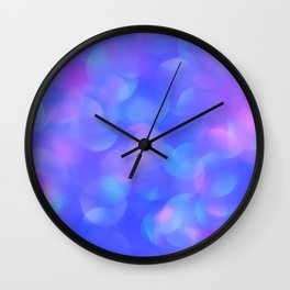 Turquoise Blue Bubbles Wall Clock