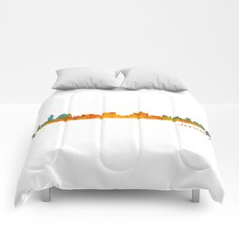 Jerusalem City Skyline Hq v1 Comforters