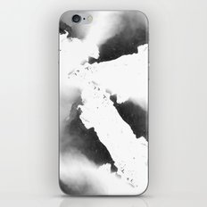 Watercolor marble, black and white iPhone & iPod Skin