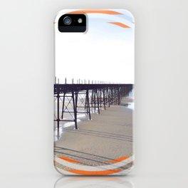 Victorian Pier - orange graphic iPhone Case