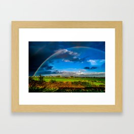 Rainbow over Ireland Framed Art Print