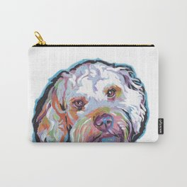 COCKAPOO Fun Dog Portrait bright colorful Pop Art Painting by LEA Carry-All Pouch
